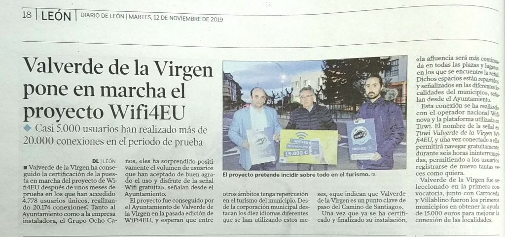 Valverde de la Virgen Wifi4EU