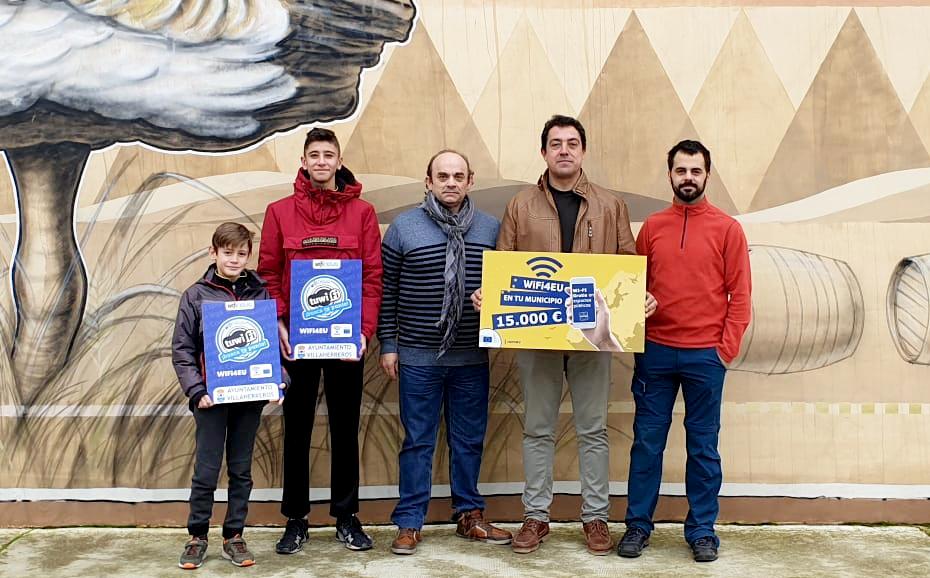 Villaherreros, primer municipio palentino en implantar la red WIFI4EU